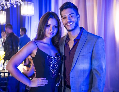 Melissa e Diego, personagens de Gabriella Mustafá e Arthur Aguiar em 'O Outro Lado do Paraíso'