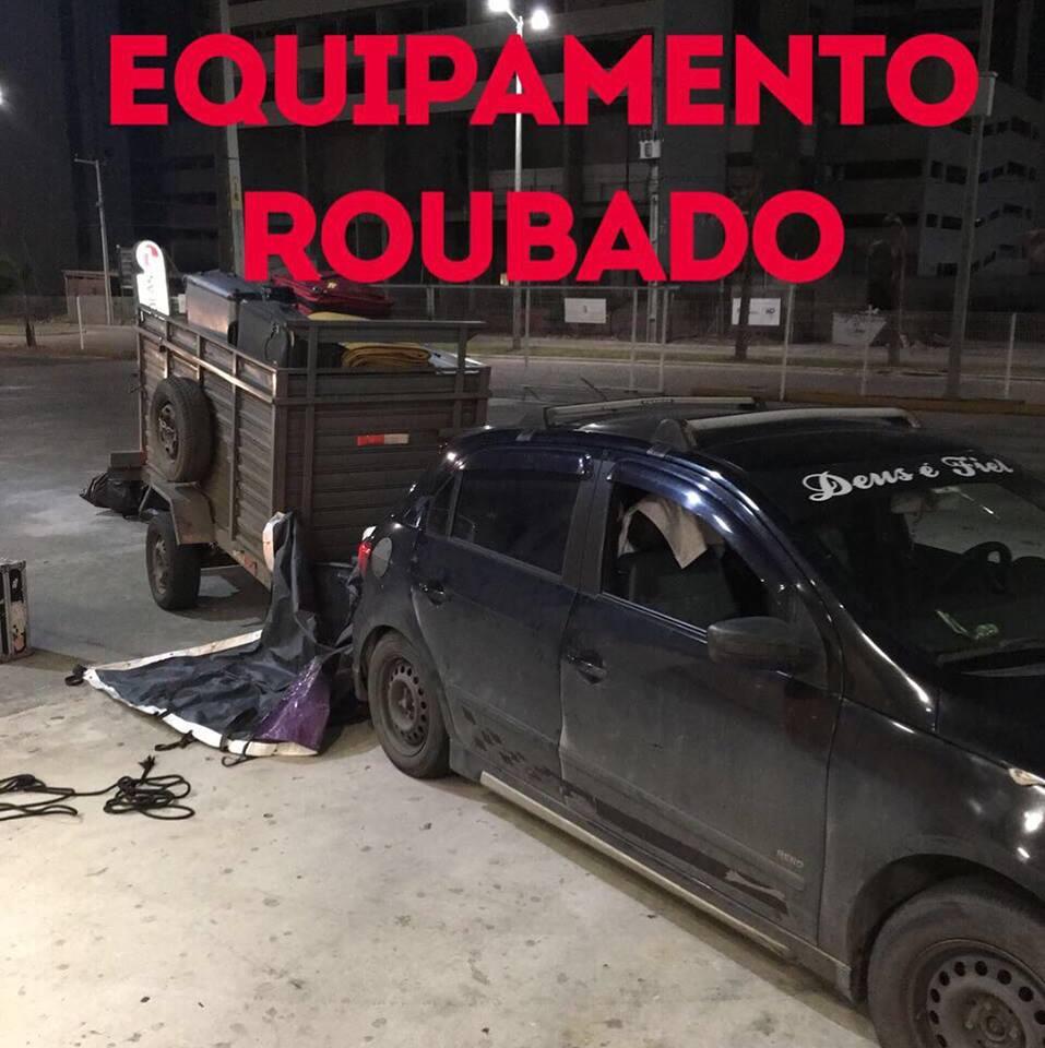 Carreta de Caetano com equipamentos foi roubada na Bahia