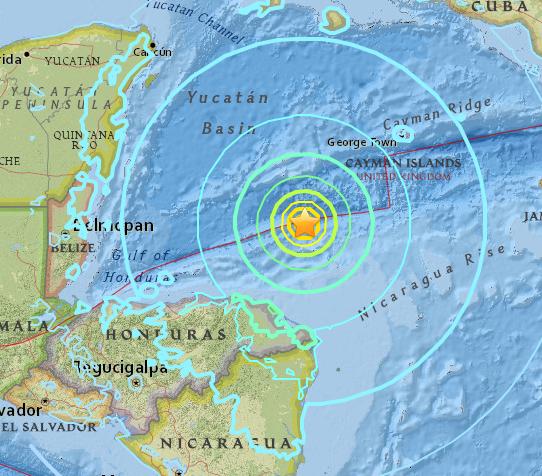 Terremoto de 7,6 graus atinge Honduras