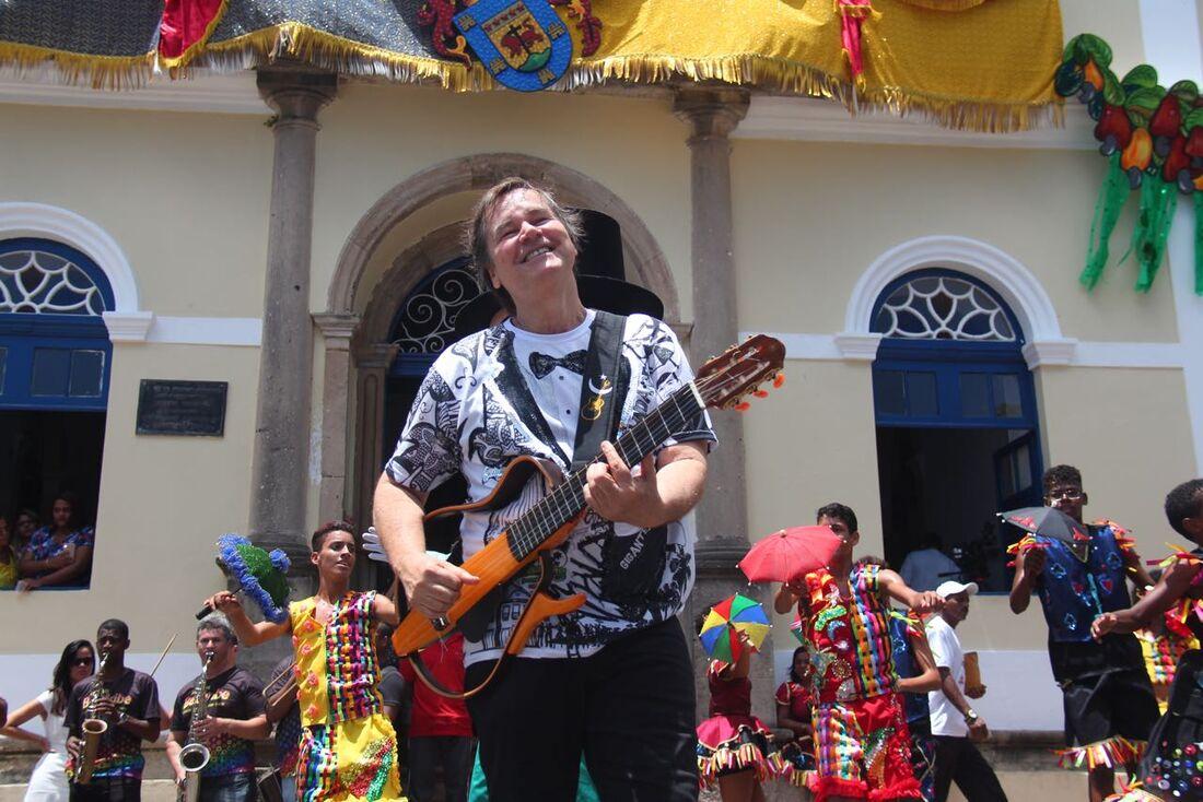 Rogerio Rangel, compositor da música do Carnaval de Olinda 2018.