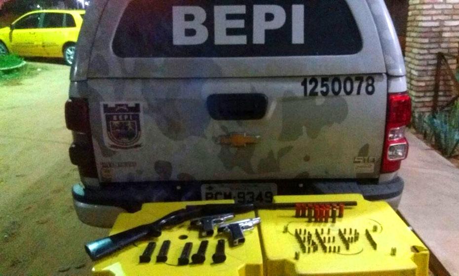 Polícia apreendeu armas e munição em poder de 'Nego de Lídio'