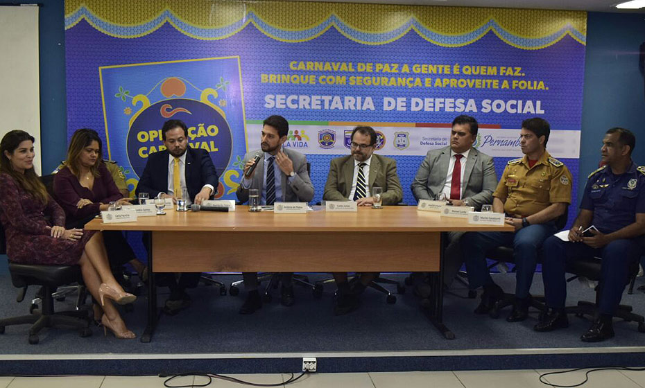Coletiva da SDS sobre a segurança na folia