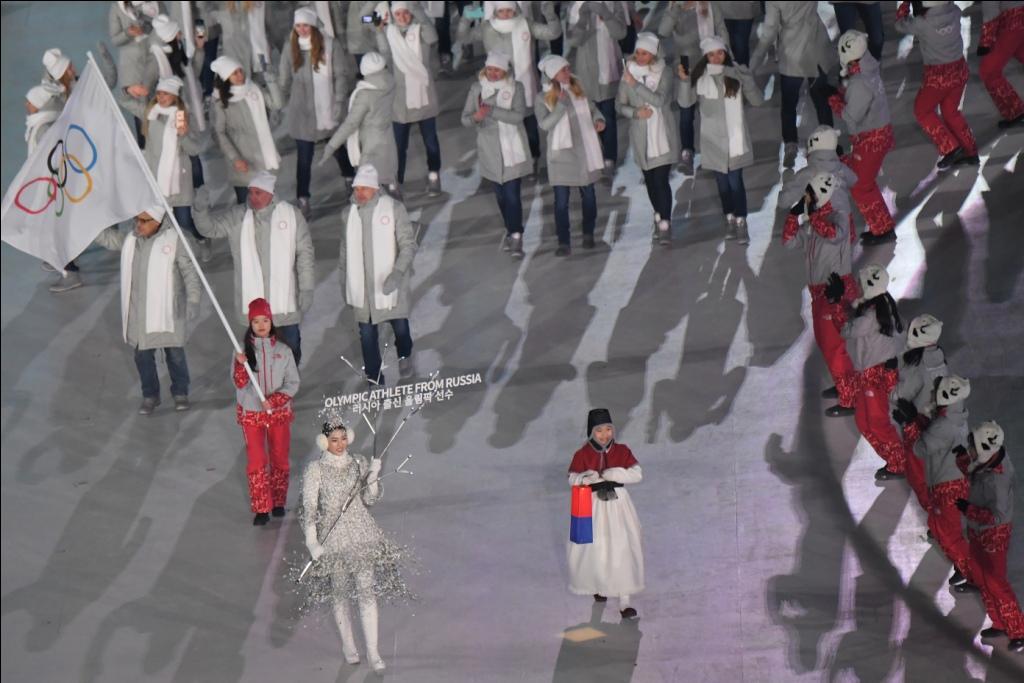 Delegação russa compete sob bandeira neutra