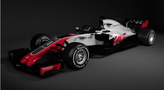 Novo carro da Haas para temporada 2018