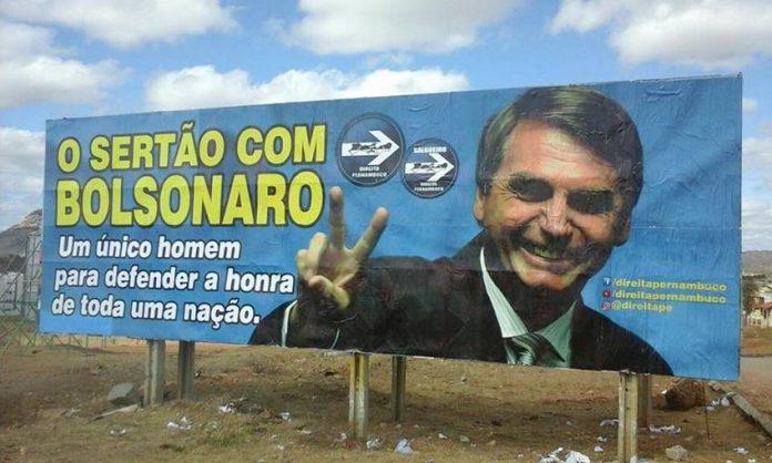 Outdoor para Jair Bolsonaro