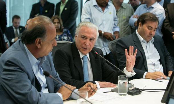 Temer em reunião no Rio de Janeiro