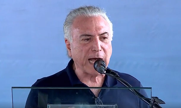 Michel Temer em Cabrobó
