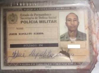 Policial militar foi assassinado