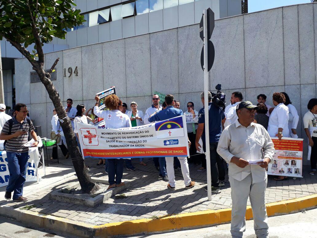 Protesto de servidores da saúde