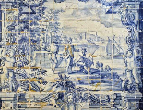 Azulejos portugueses do século 18