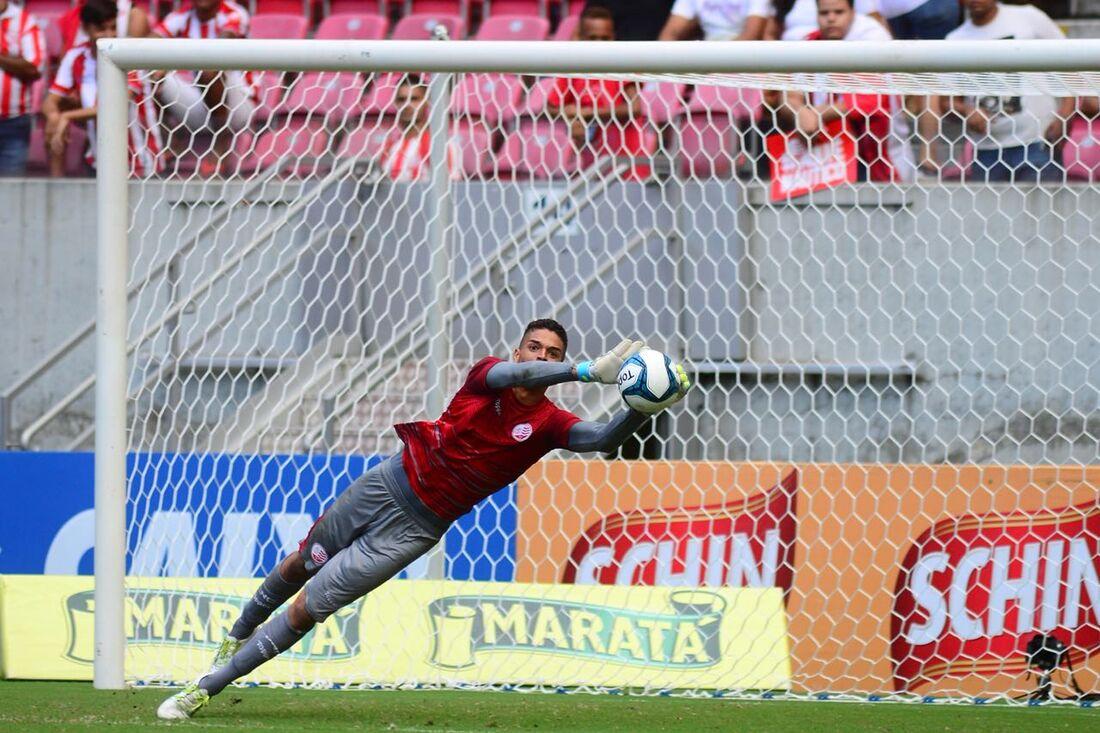 Bruno em ação contra o Bahia