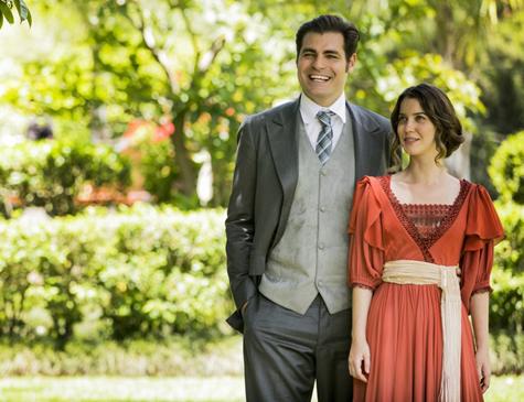 Darcy (Thiago Lacerda) e Elisabeta (Nathália Dill) em 'Orgulho e Paixão'
