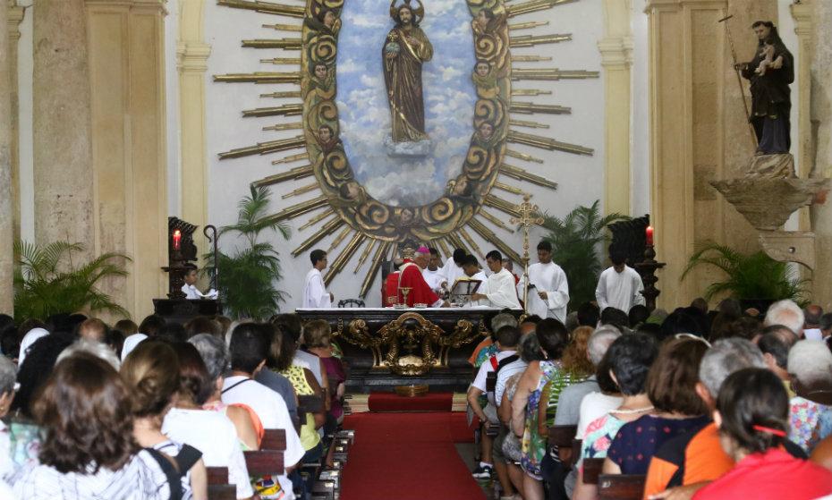 Missa de Ramos, celebrada na Catedral da Sé