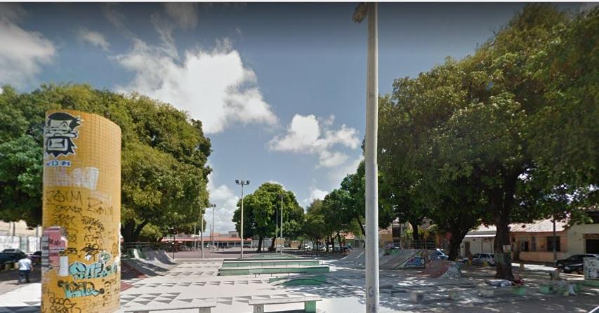 Praça da Gentilândia, em Fortaleza.
