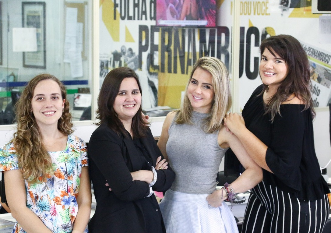Da esquerda para a direita,  Branca Alves, Carol Brito, Renata Bezerra de Melo e Priscilla Aguiar