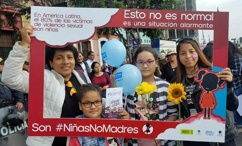 O Peru se juntou à campanha Niñas no madres (Meninas, não mães)