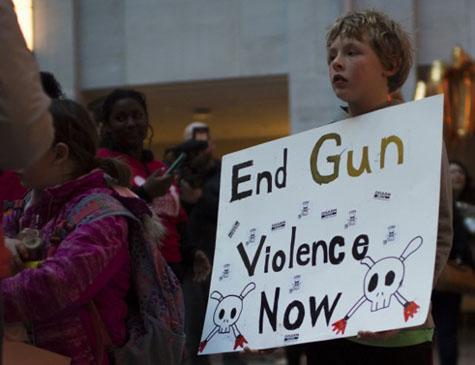 Protesto contra armas nos EUA