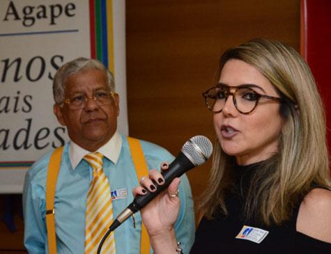 Renata Bezerra de Melo na homenagem