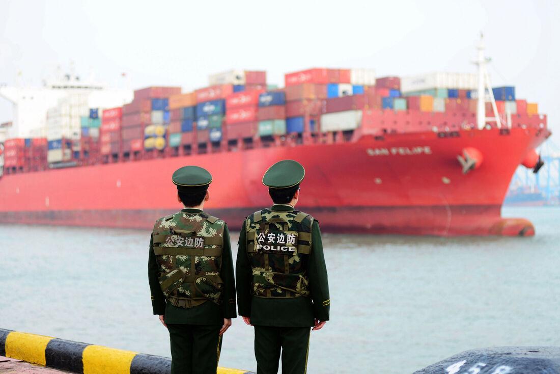 Navio cargueiro chinês