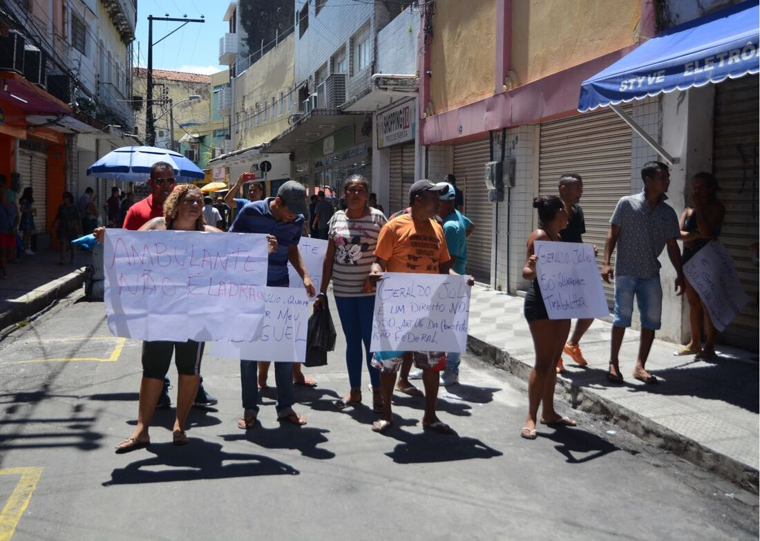 Protesto dos ambulantes