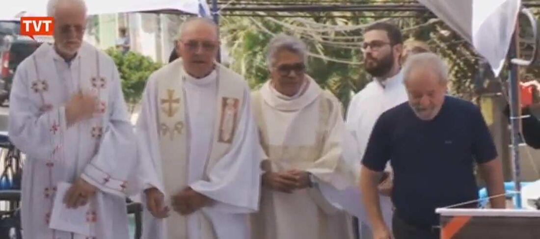 Lula na missa
