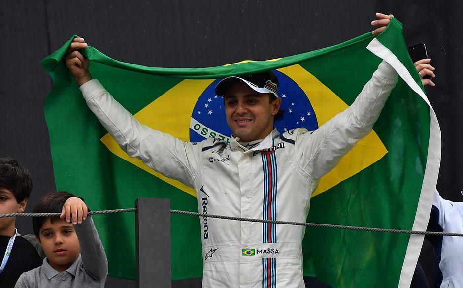 Felipe Massa em sua despedida da Fórmula 1