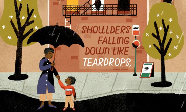 Detalhe do Google Doodle em homenagem a Maya Angelou
