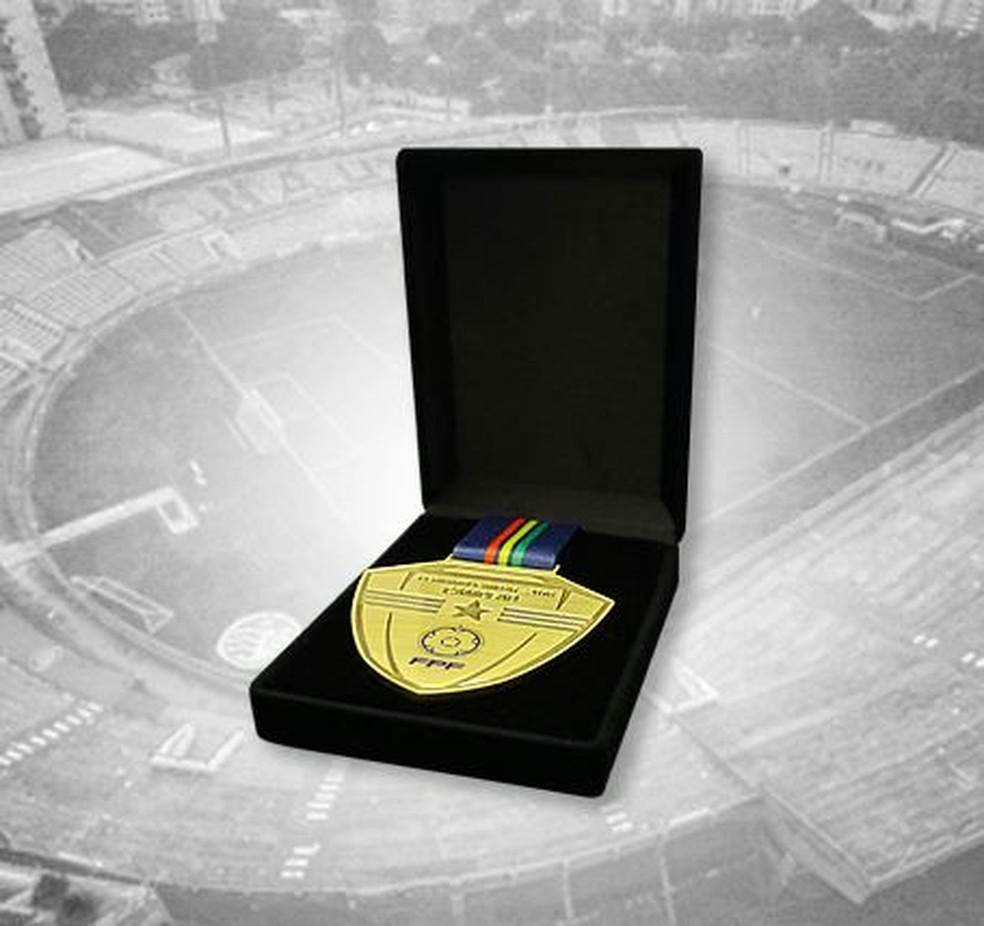 Medalha dado aos atletas pelo título