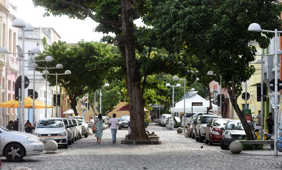Rua da Moeda, no Bairro do Recife