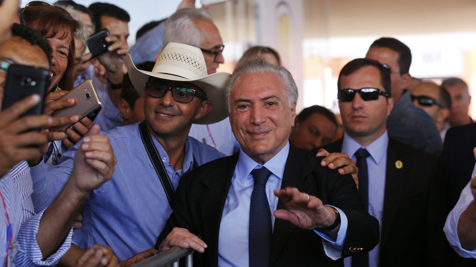 Temer participou da Agrishow  em Ribeirão Preto