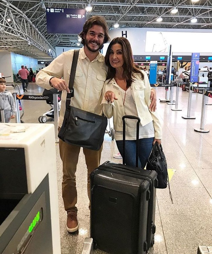 O casal está embarcando para Miami