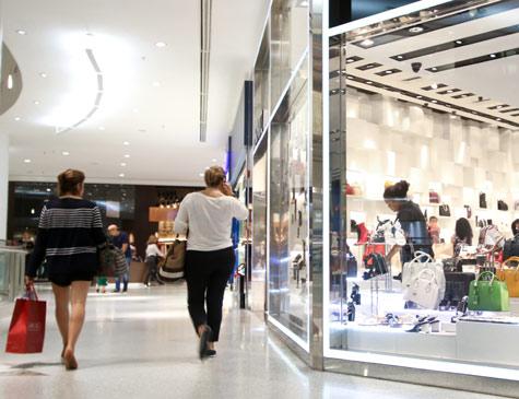 Movimentação em shopping