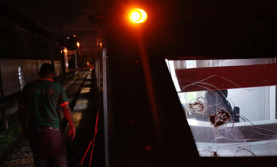 Composição do metrô envolvida no acidente