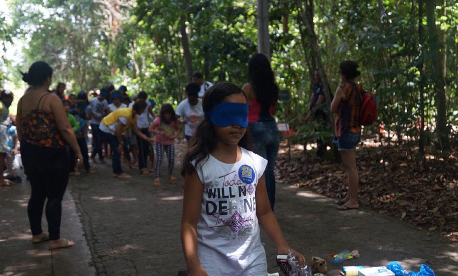 Trilha cega no Jardim Botânico do Recife