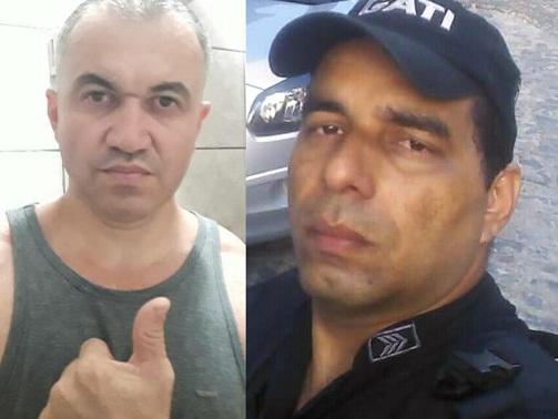 Sargento Enéas (esquerda) e cabo Adeildo (direita)