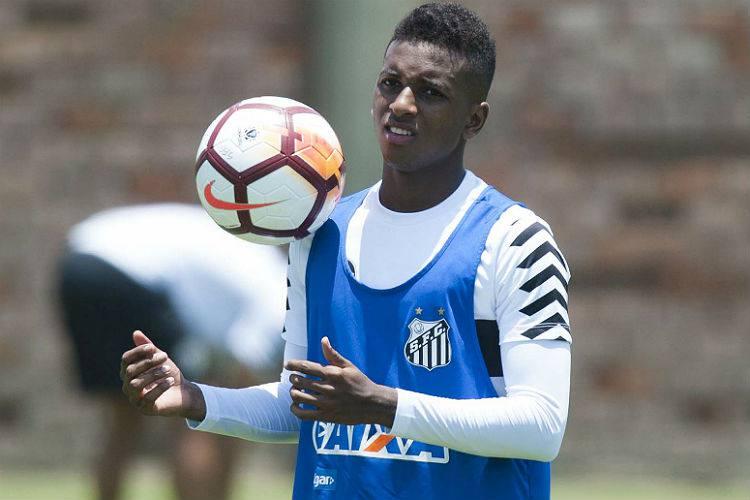 Rodrygo, ex-Santos, foi negociado com o Real Madrid