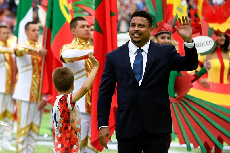 Ronaldo durante a cerimônia de abertura da Copa do Mundo 2018