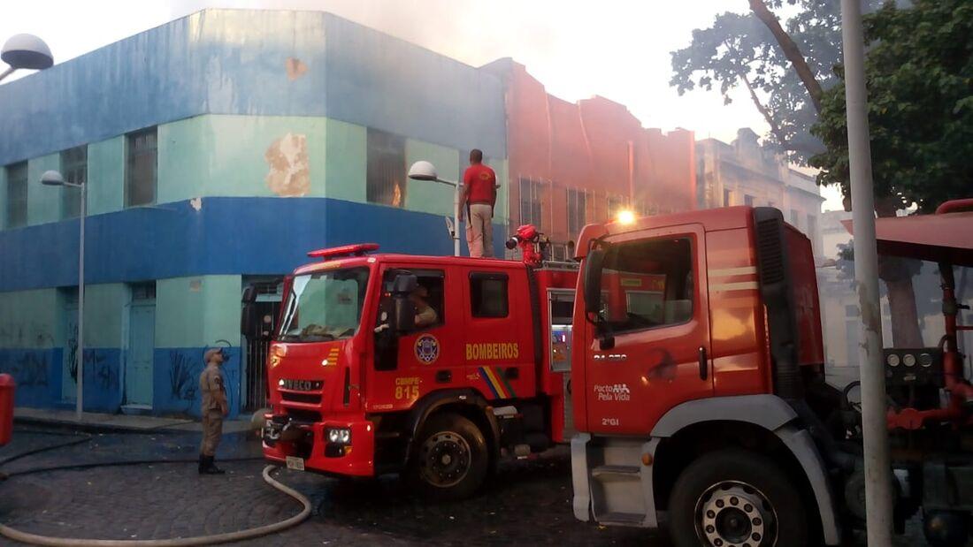Incêndio no bairro do Recife