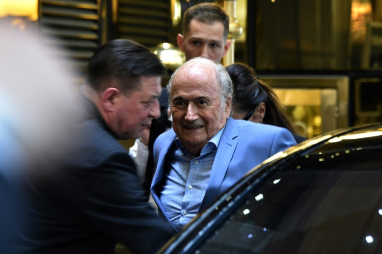 Chegada de Blatter a Moscou para acompanhar a Copa