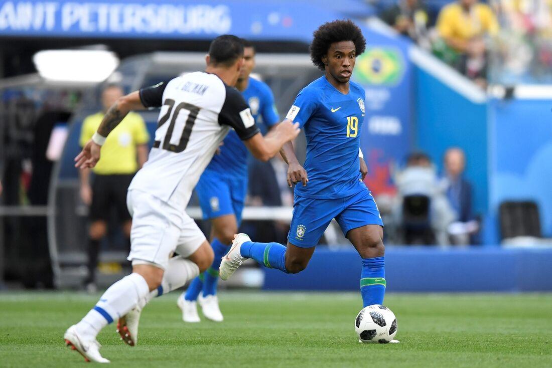Lance de Brasil x Costa Rica, pela segunda rodada do Grupo E