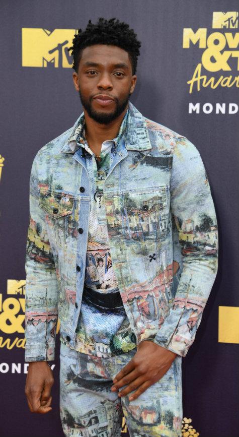 Chadwick Boseman ganhou 'Melhor Ator' e 'Melhor Super-Heroi', pelo filme 'Pantera Negra'