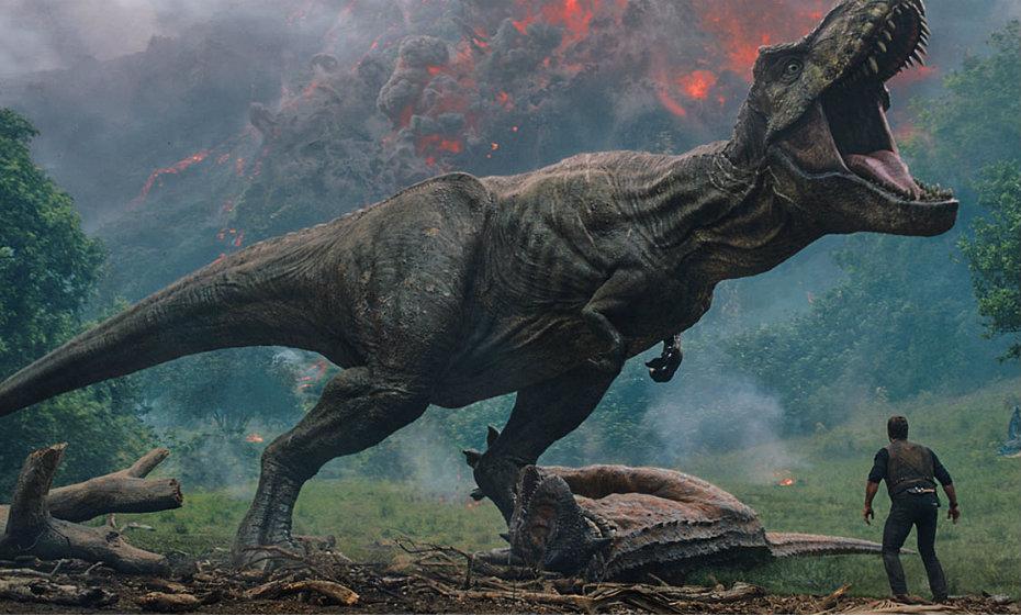 Cena do filme 'Jurassic World: reino ameaçado'