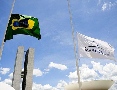 Bandeira Brasil e Mercosul