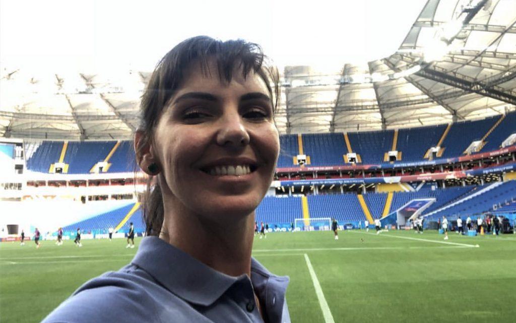 Glenda Kozlovski está em mais uma Copa do Mundo, fazendo a cobertura pela TV Globo