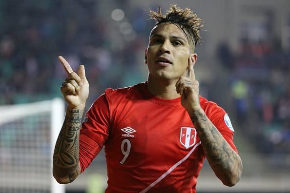 Guerrero, atacante da seleção peruana