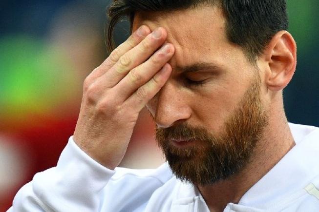 Messi esteve longe de apresentar o futebol que se esperava dele na Rússia