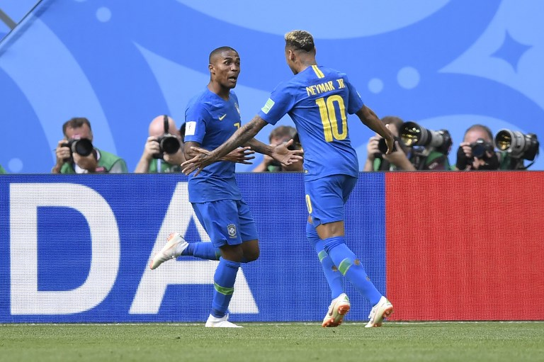 Neymar marcou seu primeiro gol na Copa do Mundo de 2018