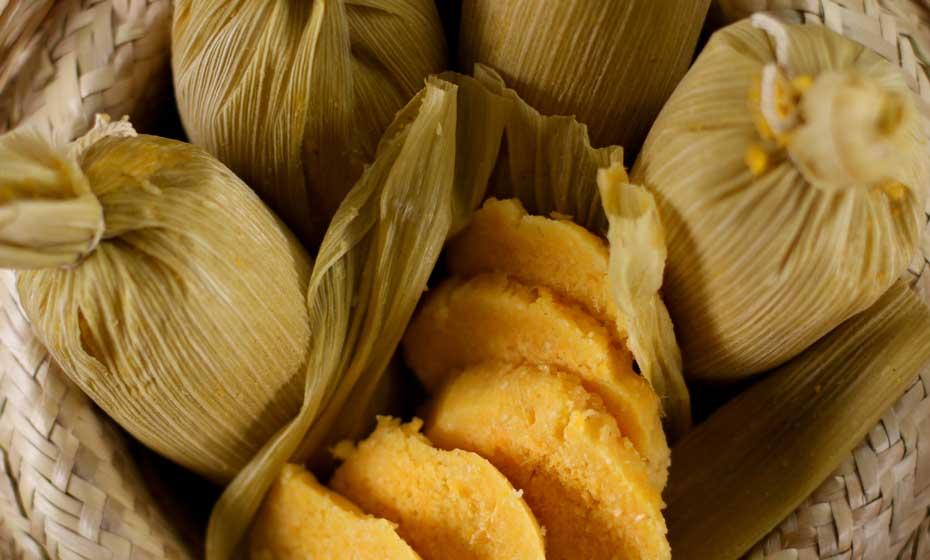 No regional Seu Celé, e na maioria dos restaurantes nordestinos, pamonha é obrigatória