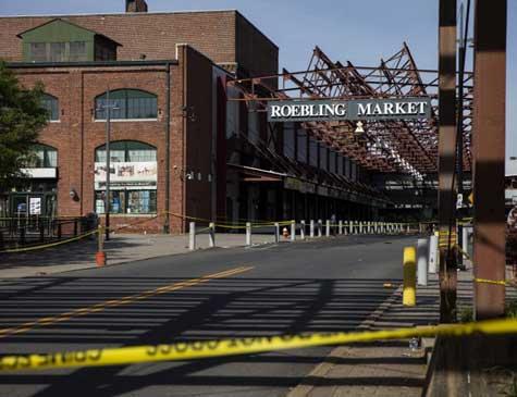 Local do ataque a tiros em Trenton