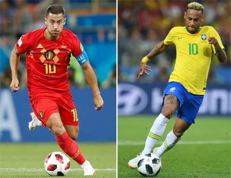 Neymar e Hazard são os pontos de desequilíbrio das duas equipes